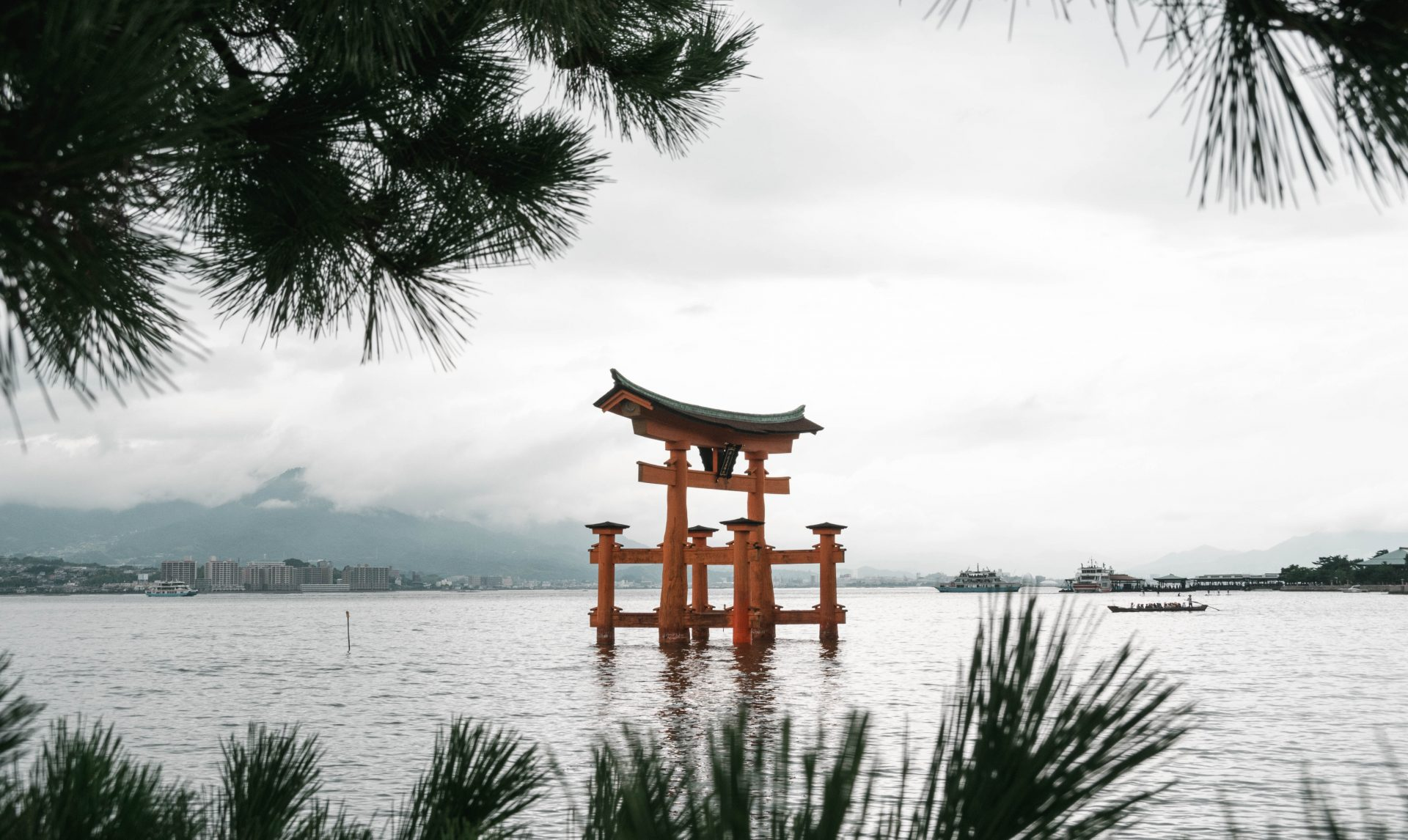 Le Torii flottant de Miyajima.